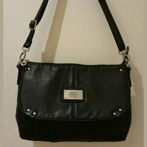 Relic Pebbled Black Faux Leather Handbag